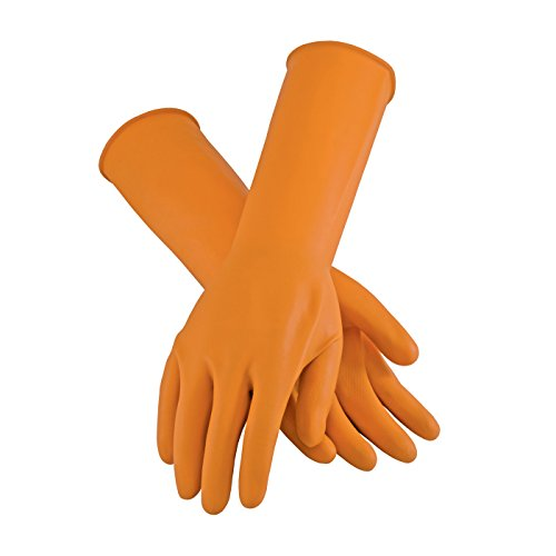 (Assurance 47-L210T/S Extra Long Unsupported Latex Gloves, Unlined with Roughened Sandblast Grip, 18 Mil )