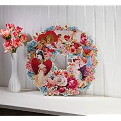 Vintage Wreath of Love Die Cut