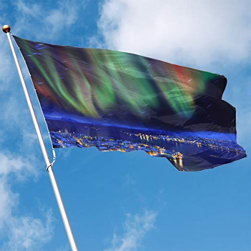 Garden Flag Aurora City Outdoor Yard Home Flag Wall Lawn Banner Polyester Flag Decoration 3' X -