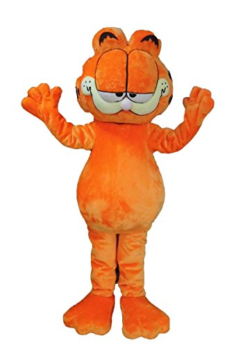 (Garfield Cat Mascot Costume for Adult to Wear Cartoon Character Costumes for Party Deguisement)