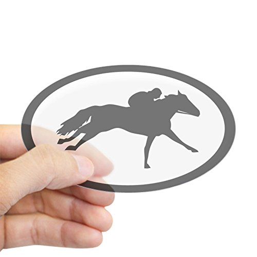 CafePress Racehorse Thoroughbred Oval Sticker Oval for sale  Delivered anywhere in USA
