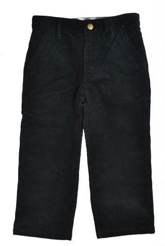 Boys Corduroy Pants (All Navy Boys Straight cut Corduroy pants with flat front (Available in 3 colors) - Black - 8-Years)