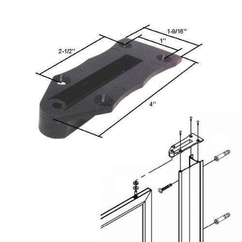 (Black Nylon Framed Swing Shower Door Replacement Pivot Bracket)