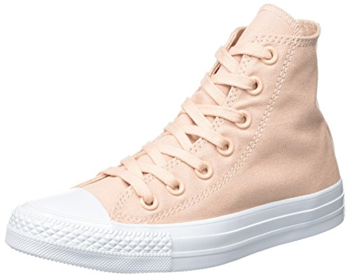 Converse Unisex Adults' Chuck Taylor All Star Hi-Top Trainers, Black Pink (Dusk Pink/Dusk Pink/Platinum)