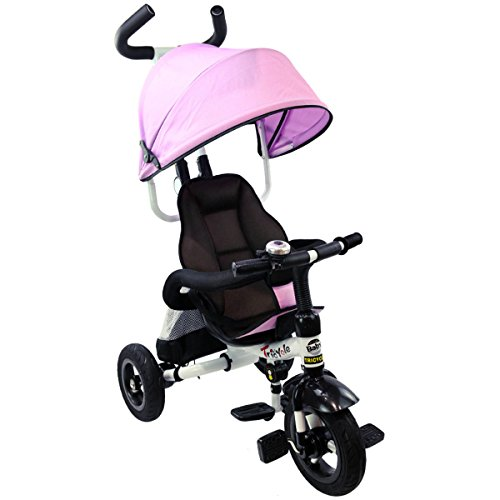 4 in 1 Baby Tricycle (Pink) - 5
