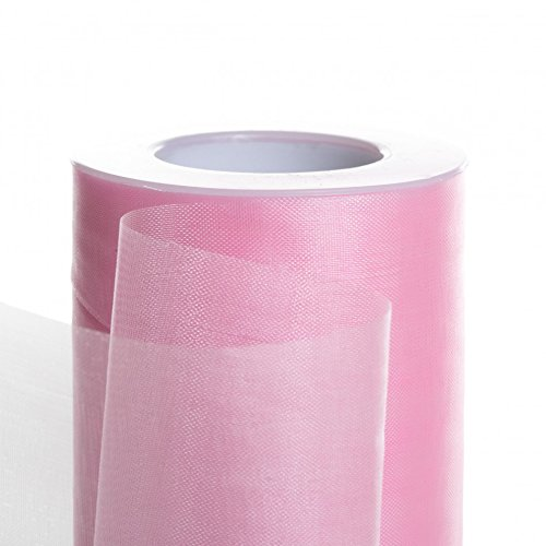 Koyal Wholesale 25-Yard Sheer Organza Fabric Roll, 6-Inch, Light - Ribbon Wholesale Sheer