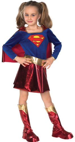 DC Super Heroes Child's Supergirl Costume, Medium (7 Supergirl Halloween)