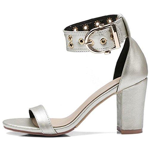 Silver Bout Femmes 2 Classique Sandales Ouvert Taoffen 4xZfwXBqnf