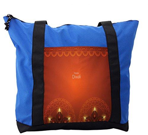 Lunarable Diwali Shoulder Bag, Ethnic Oriental Paisley, Durable with Zipper by Lunarable