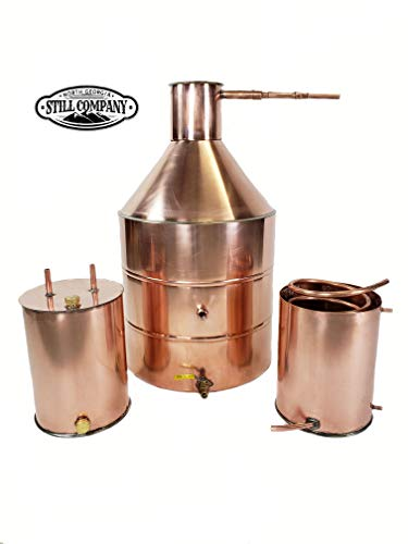 North Georgia Still Company 20 Gallon Copper Moonshine Still Built with Heavy Duty 20 Ounce/ 22 Gauge Copper with 3 Gallon Worm, 3 Gallon Thumper with Ball Valve Drain Port, 1/2 OD Copper Tubing by North Georgia Still Company price tips cheap