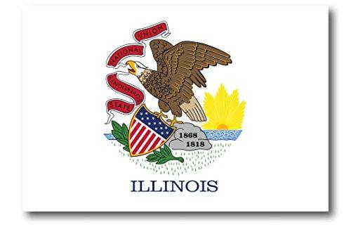 Illinois Car Magnet US State Flag Refrigerator Locker SUV Heavy Duty Waterproof…