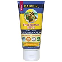 Badger Balms Spf 30 Sunscreen Cream - Lavender 87 Milliliters