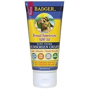 Badger Broad Spectrum SPF 30 Tinted Sunscreen Lavender 2.9 oz Face & Body Cream
