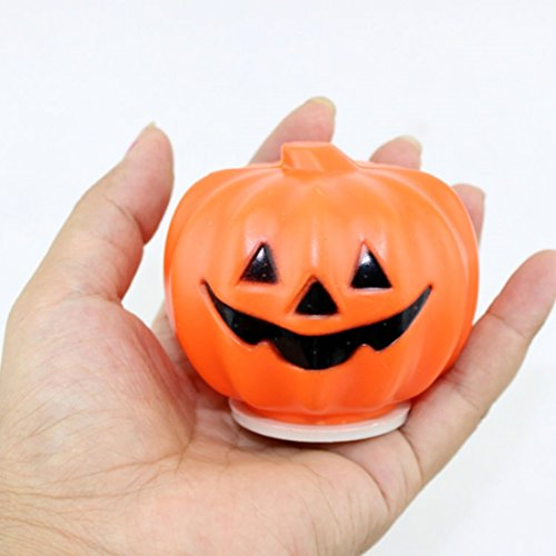 1Pc Primo Popular Halloween LED Nightlight Party Decoration Lantern Pattern Round Pumpkin Color Orange