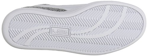 Sneaker da uomo Smash Knit Fashion, Puma White / Puma White, 8.5 M US