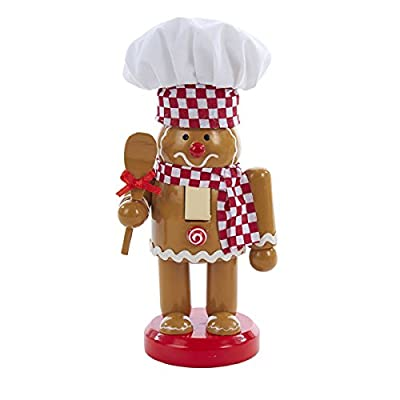 Gingerbread Chef with Hat and Spoon Wooden Christmas 7 Inch Nutcracker C5829 New