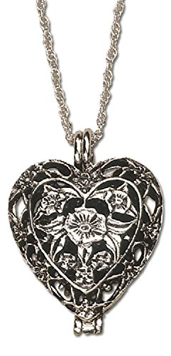Pewter Prayer Heart Locket with Prayer Instruction Card in Gift - Prayer Locket