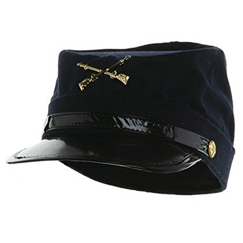 (Jacobson Hat Company JHats 100% Wool Men's Union Civil War Replica Kepi Hat Medium Blue)