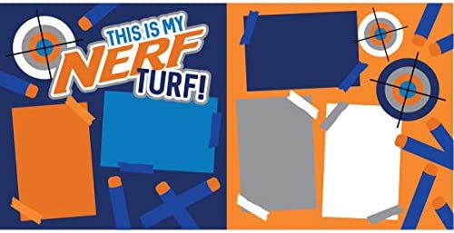 This is My Nerf Turf Scrapbook Page Kit