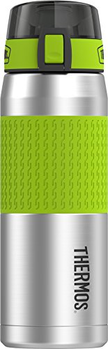 Thermos 24 Ounce Stainless Steel Hydration Bottle, Lime Green (Thermos One Ounce 24)