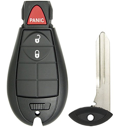 Keyless2Go Keyless Entry Remote Car Key for RAM Vehicles That Use 3 Button Fobik GQ4-53T - 2 Pack