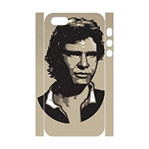3D For Iphone 5/5S Phone Case Cover Young Han Solo Portrait For Iphone 5/5S Phone Case Cover {White}