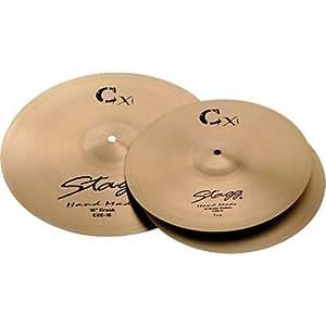 stagg cxk set brass standard cymbal set with 14 inch hi hats 16 inch crash and 20. Black Bedroom Furniture Sets. Home Design Ideas