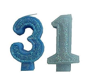 2 Piezas Vela de Cumpleaños con la