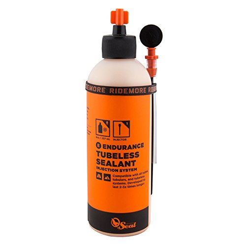 Orange Seal Endurance Tubeless Sealant, 8oz with Twist Lock Applicator (Tire Endurance)
