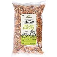 La Nogalera Pecans - Fresh Crop of USDA Certified Organic Halves in 2 lbs hefty bag. Pecan nut halves, NO SHELL, Non-GMO, No Preservatives, Unpasteurized, Kosher and Halal Certified