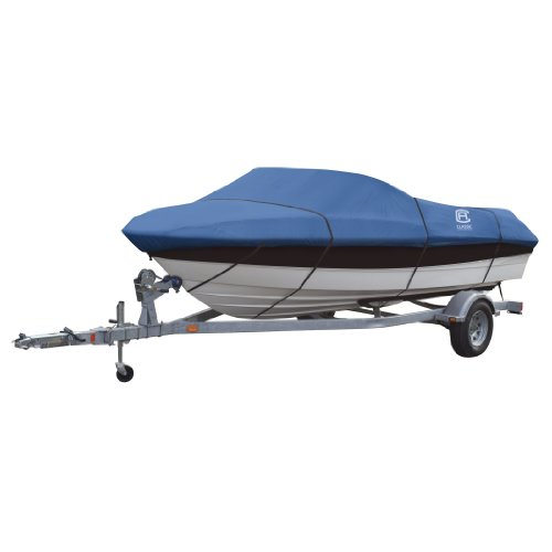 Classic Accessories Stellex All Seasons Boat Cover, Blue, Fits 17' - 19' L x 102