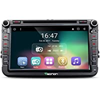 Eonon GA7153 Android 6.0 Car DVD Player Special for Volkswagen/Skoda/Seat Quad Core Marshmallow In Dash GPS Radio Stereo 8 Inch 2 DIN Touch Screen Bluetooth 4.0 Subwoofer Volume Control