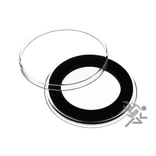 (3) Air-tite 33mm Black Ring Coin Holder Capsules for 1oz Australian Platinum Platypus and 1/2oz Silver Libertad