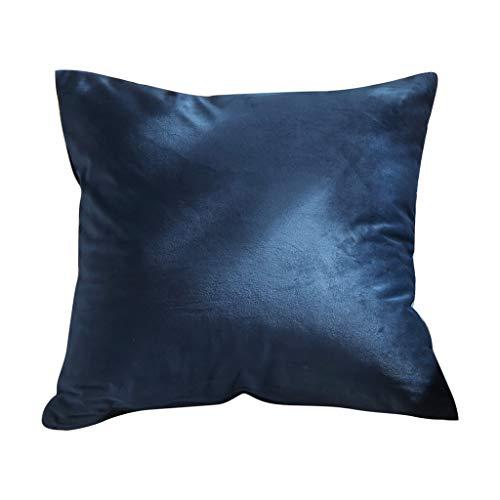 (Littay Velvet Pillow Sofa Waist Throw Cushion Cover Home Decor Cushion Cover Case)