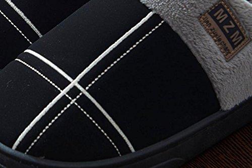 con engrosada hombres casa 45 antideslizante para invierno impermeable amp;XY suela de de W Zapatillas artificiales qBFpZCz