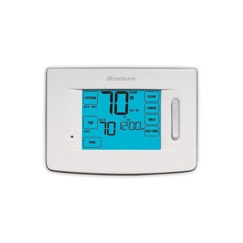 BRAEBURN 5310 Thermostat, Touchscreen Hybrid 7, 5-2 Day or N
