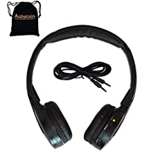 Autotain Autotain-Cloud 2 Channel KID SIZE Universal IR Infrared Wireless or Wired Car Headphones Cloud