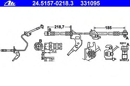 ATE 24.5157-0218.3 Bremsschlauch
