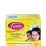 Fem Tumeric Herbal Cream Bleach Ammonia Free Glow Natural Fairness 24g (Pack of 2) by Fem