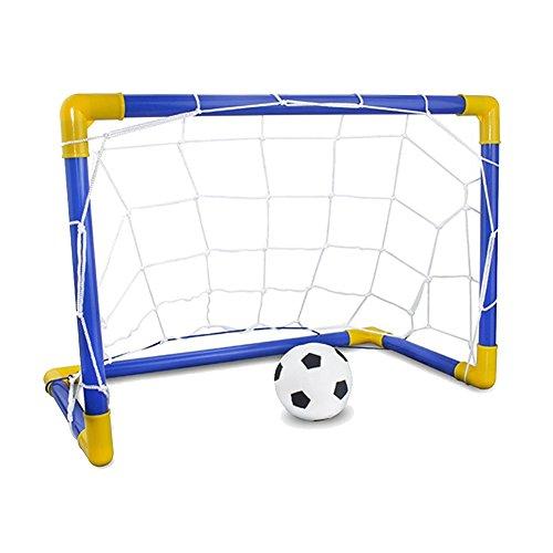 bjduck99 Mini Inflatable Football Soccer Goal Post Net Set Kids Indoor Outdoor Games Toys - 60cm -