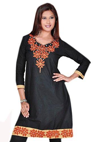 Jayayamala Damen Plus Größe Tunika-Oberteil , schwarze Tunika-Oberteil , Trendy Plus Size Kleidung, Party Top, Abend Hemd