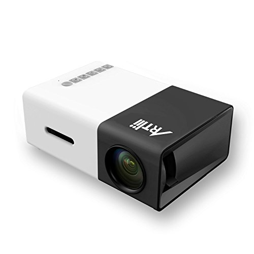 Great Deal! Artlii Fun Portable Mini Home support 1080P Projector with USB/SD/AV/HDMI Input for TV/ ...