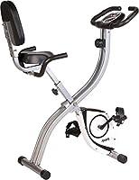 SportPlus Cyclette Pieghevole | Bicicletta da Stanza con Schienale | Rilevatore Battiti | 8 Livelli di Resistenza e Computer integrato | Allenamento Fitness Cardio