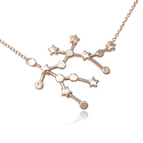 Zodiac Constellation Symbol Pendant Necklace