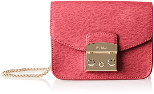Furla Women's MeTropolis Mini Crossbody Cross-Body Bag Red (Ruby)
