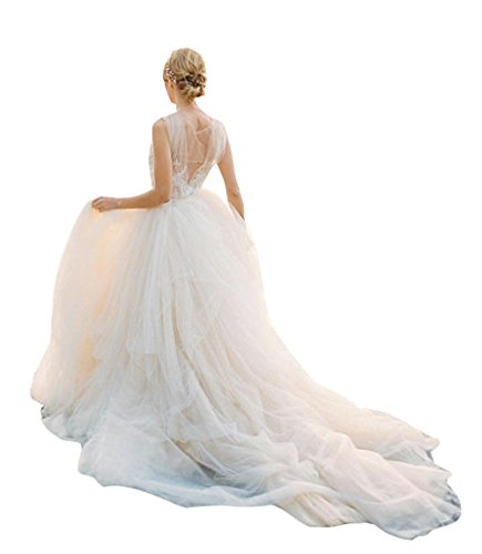 Detachable Long Train Tutu Overskirt Wedding Bridal Overskirt Ruffle Dress Cover 4XL Ivory (In Black Ashley Dress)