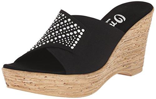 Onex Vrouwen Kaelyn Wedge Sandaal Zwart