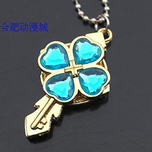 (shugo chara necklace pendant chain watch pocket table asian dream anime key free postage (sky blue)