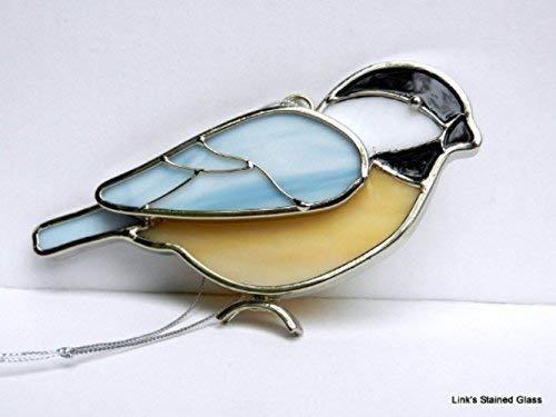 Stained Glass Chickadee Sun - Ornament Glass Chickadee