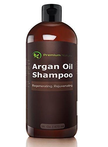 Argan Oil Organic Daily Shampoo - 16 oz Rejuvenates Heat Damaged Hair Nourishes & Prevents Breakage Sulfate Free - All Hair Types - Dry Damaged Colored Hair - Volumizing & - Shampoo Protectant Nature